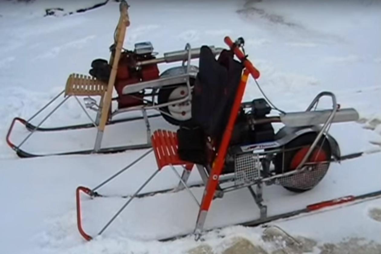 как сделать снегоход для рыбака