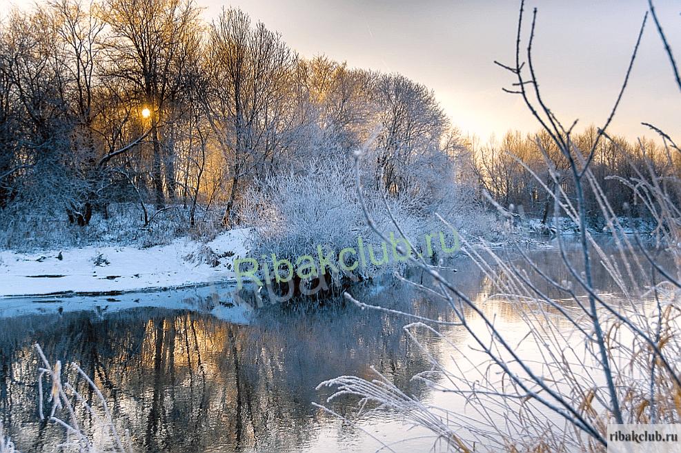 Морозный день на реке